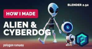 Alien & Cyberdog in Blender 2.92 – 3D Modeling Process