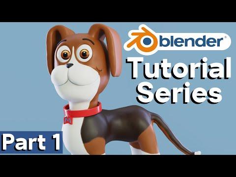 Part 1 – Dog Character Creation (Blender Tutorial Series)