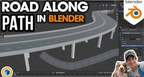How to Model a Road or Highway ALONG A PATH in Blender!