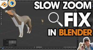Fixing the SLOW ZOOM Issue in Blender! Quick Tutorial