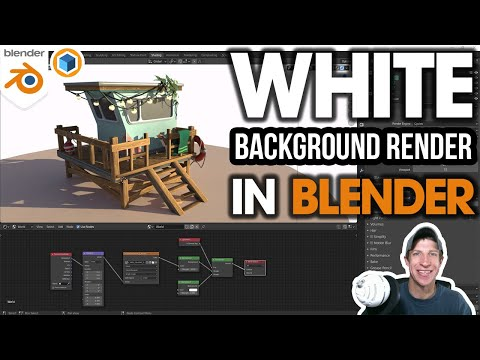 Rendering with a WHITE BACKGROUND in Blender! (Easy Setup)