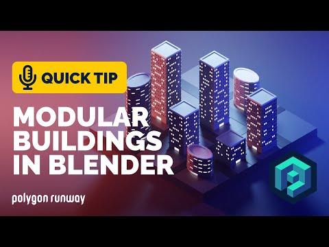 Modular Buildings Tutorial in Blender 2.92