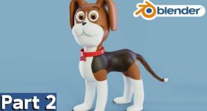 Part 2 – Dog Character Creation (Blender Tutorial Series)