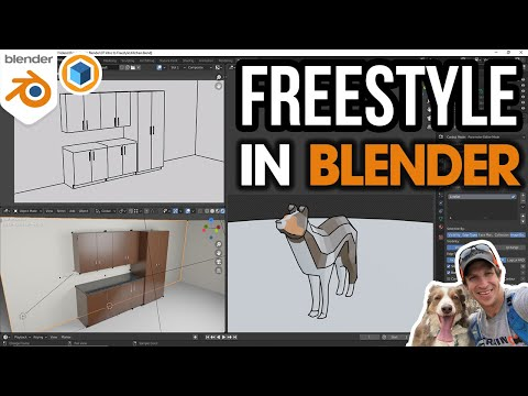 Render Edges and Styles in Blender with FREESTYLE! Beginners start here!