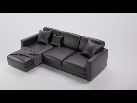 speed modeling furniture large sofa in blender