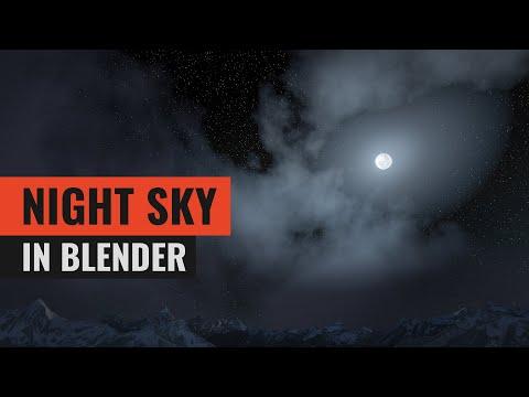 Making a Night Sky in Blender