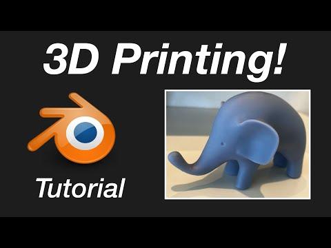 3D Printing for Blender Users in 4 Minutes, Beginner Tutorial