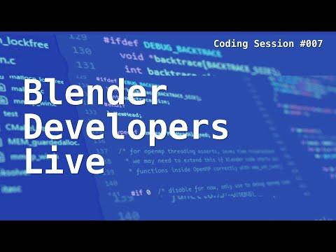 Blender Developers Live: Catching up!