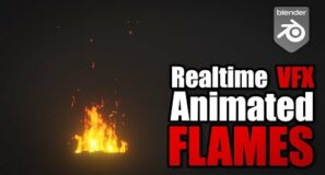 Realtime flames VFX tutorial in Blender