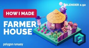 Farmer House in Blender 2.92 – 3D Modeling Process
