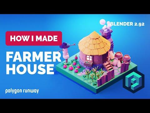 Farmer House in Blender 2.92 – 3D Modeling Process