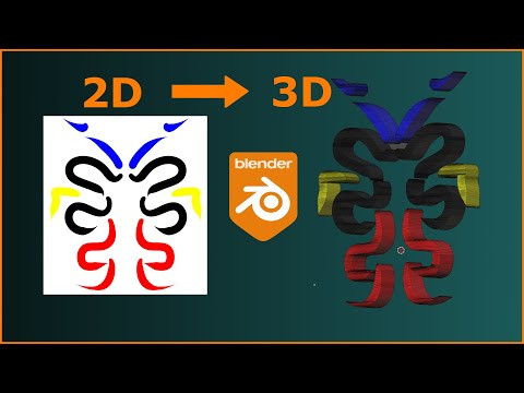 2D to 3D | Blender Quickie | SVG's Are Magic