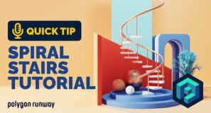 Spiral Stairs Tutorial in Blender 2.92