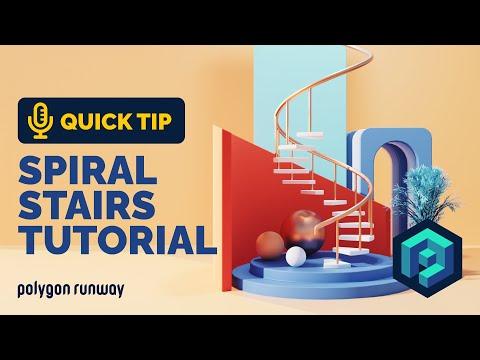 Spiral Stairs Tutorial in Blender 2.92