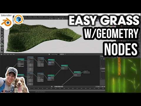 EASY GRASS in Blender with Geometry Nodes!