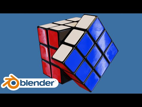 Realistic Rubik's Cube Creation and Animation (Blender Tutorial)
