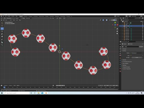 Blender 2.92 Tutorial: How To Duplicate Objects On A Path/Curve Without Distortion.