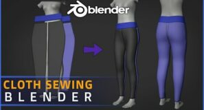 Blender | Sewing Cloth In Blender 2.93 | Beginner Tutorial