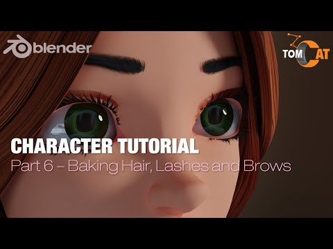 Blender Complete Character Tutorial  – Part6 – Baking the Hair, Lashes and Brows