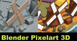 More fun with 3D Pixelart in Blender [Tutorial]