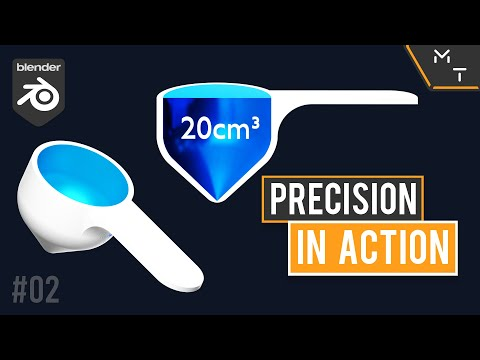Coffee Scoop 20cm3 / 20ml | Blender 2.9 Precision Modeling In Action | 02