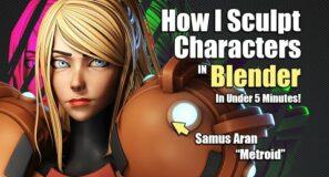 How I Sculpt a Character in 5 minutes – Samus Aran [Metroid]