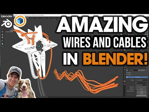 The BEST Way to Make Wires and Cables for Blender? Trying out Curve Basher!