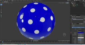 Blender 2.92 Tutorial: How To Create A Sphere With An Equal Number Of Round Dots On It.