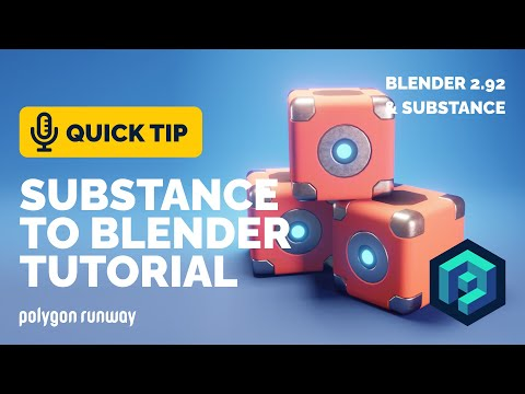 Substance Painter to Blender Tutorial – Textured Hard Surface Model | Polygon Runway