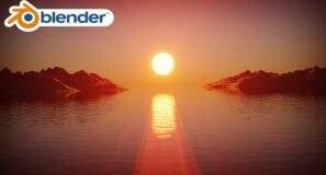 Ocean Sunset (Blender Tutorial)