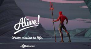 Alive teaser n°3 – Animation course in Blender