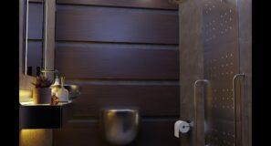 creating a bathroom scene in blender