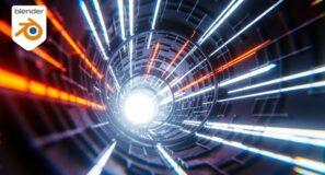 Create A Sci-Fi Tube with Camera Shake in Blender 2.92 & Eevee