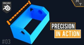 3D Print Time-lapse Trigger Holder | Blender 2.9 Precision Modeling In Action | 03