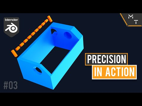 3D Print Time-lapse Trigger Holder   Blender 2.9 Precision Modeling In Action   03