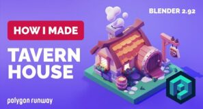 Tavern House in Blender 2.92 – 3D Modeling Process | Polygon Runway