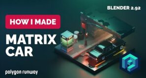 Matrix Car in Blender 2.92 – 3D Modeling Process | Polygon Runway