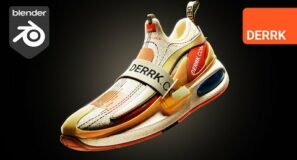 Concept Shoe Modeling in Blender 2.92