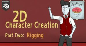 [Grease Pencil/ 2D Animation] Character Creation : Part Two – 2D Rigging