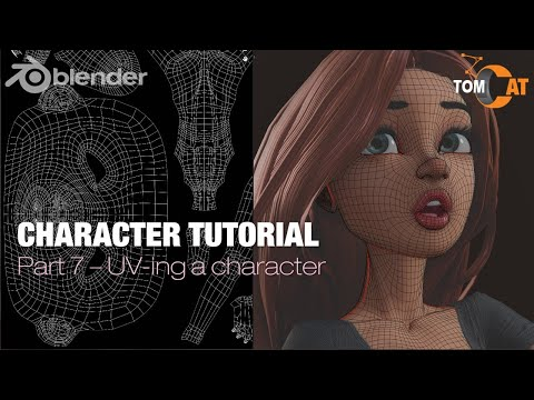 Blender Complete Character Tutorial  – Part7 – UV-ing a character