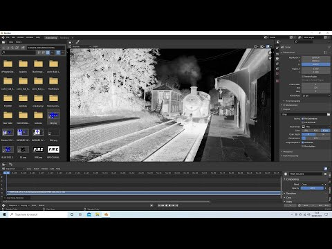 Blender 2.92 Tutorial: How To Create A Black And White Negative Video From A Color Video.