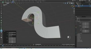 Blender 2.92 Tutorial: How To Create Bends Or Elbows Using The Spin Function In Edit Mode.