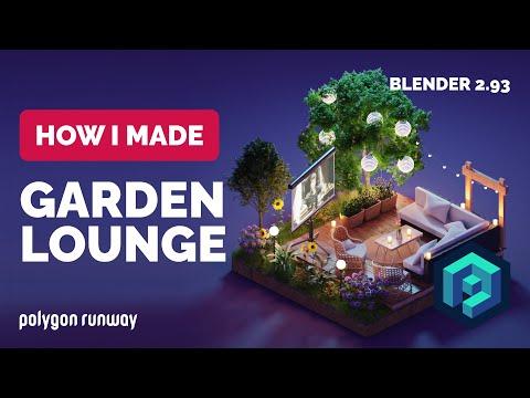 Garden Lounge in Blender 2.93 – 3D Modeling Process