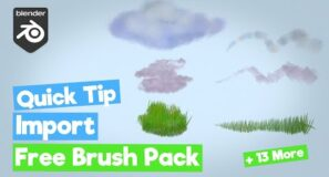 [Blender Grease Pencil/ 2D Animation] How to Import Free Brush Pack in seconds!