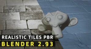 FAST Realistic PBR Tiles | Blender Tutorial | Beginners