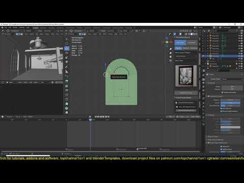 27 blender tips   how to model archs easily in blender using the spin tool