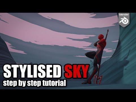 Stylised Sky shader  – Blender tutorial