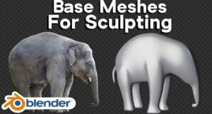 How to Make Base Meshes for Sculpting in Blender (Tutorial)