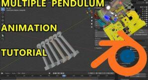 Multiple Pendulum Tutorial Using Rigid Body Constraints – Blender