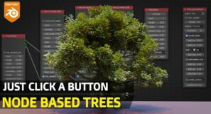 Trees FAST Just Click A Button | Blender MTree Node Addon